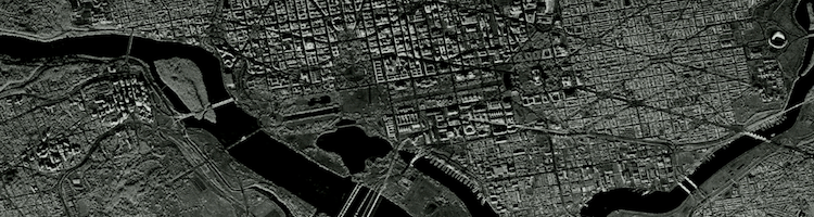Synthetic aperture radar image of DC and NoVA